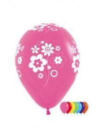 """№10.224 Воздушный шар """"Цветы"""", ассорти, пастель. Стоимость гелиевого шарика с обработкой - 45 руб., без обработки - 40 руб."""