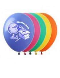 """№10.402 Гелиевый шар """"Выпускник, глобус"""", ассорти, пастель. Стоимость гелиевого шарика с обработкой - 74 руб., без обработки - 64 руб."""