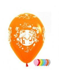 """№10.403 Воздушный шар """"Школа"""", ассорти, пастель. Стоимость гелиевого шарика с обработкой - 74 руб., без обработки - 64 руб."""