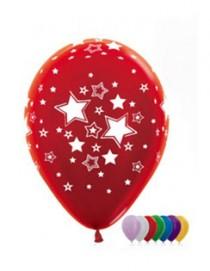 """№10.406 Воздушный шар """"Звезды"""", ассорти, металлик. Стоимость гелиевого шарика с обработкой - 74 руб., без обработки - 64 руб."""