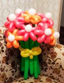 №1.16. Букет из 9-и цветов - 450р. Цвет любой, высота 1.2 метра.