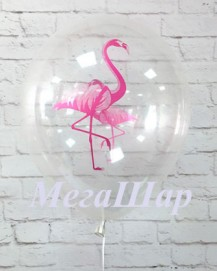 """№ 10.311. Воздушный шар """"Фламинго"""". Цвета нежно-розовый и прозрачный. Стоимость с обработкой 74р., без обработки 64р."""