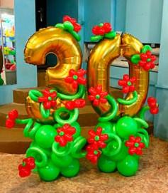 №16.11Цифра на подиуме с цветами 950 руб.\шт.