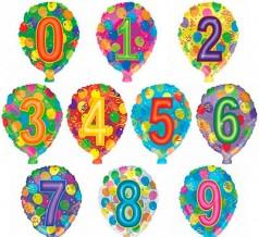 """№ 10.207. Воздушный шар """"цифра"""" с гелием 46 см., стоимость - 200 р."""