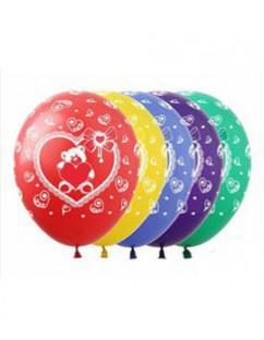 """№10.316 Воздушный шар """"Мишка с сердцем"""". Стоимость гелиевого шарика с обработкой - 50 руб., без обработки - 45 руб."""
