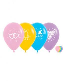 """№10.317 Воздушный шар """"Свадебное ассорти"""", ассорти пастель. Стоимость гелиевого шарика с обработкой - 50 руб., без обработки - 45 руб."""