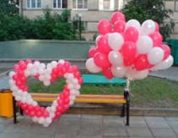 №14.07 Сердце из шаров - 1000 руб., шары гелиевые от 32 руб./шт.