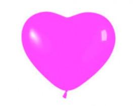 """№10.313 Воздушный шар """"Сердце"""", темно-розовый, пастель. Стоимость гелиевого шарика без обработки - 50 руб., с обработкой - 60 руб."""