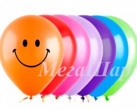 """№10.25. Гелиевые шары цветные """"Смайлы"""", стоимость с обработкой - 64р., без обработки - 54р."""