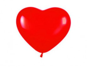 """№10.311 Воздушный шар """"Сердце"""", пастель, красный. Стоимость гелиевого шарика без обработки - 50 руб., с обработкой - 60 руб."""