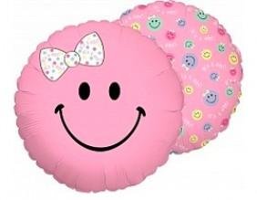 """№7.43. Воздушный шар """"Смайл"""", цвета: голубой и розовый, диаметр 46см., стоимость 200р."""