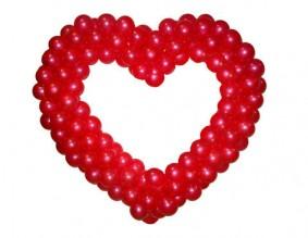 №5.10. Сердце из шаров, цветовая гамма - любая. Стоимость 1000 руб.
