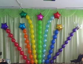 №6.11. 237р.\м. - арка из шаров с обработкой. Звезды по 170р.\шт.