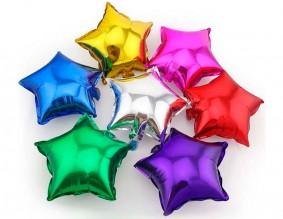 №13.06. Фольгированные гелиевые звезды в ассортименте, стоимость 150р.\шт.