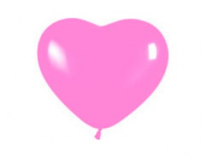 """№10.312 Воздушный шар """"Сердце"""", розовый, пастель. Стоимость гелиевого шарика без обработки - 95 руб., с обработкой - 100 руб."""