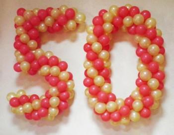№16.01 Цифры из шаров по 750 руб.