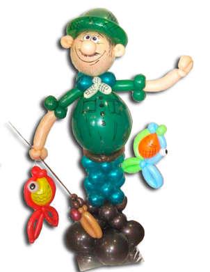 фигурки из шариков для рыбаков