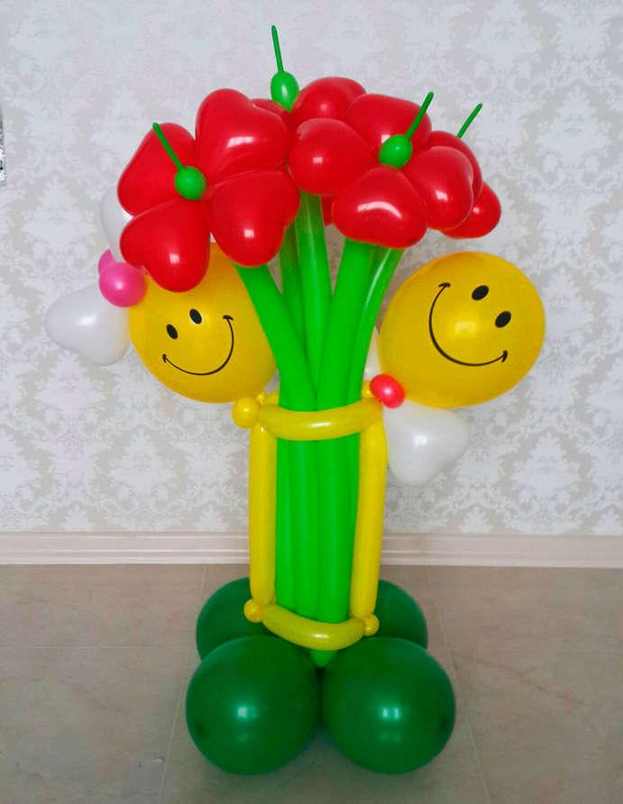 Цветы из шаров купить открытки на 8 марта оригами цветы