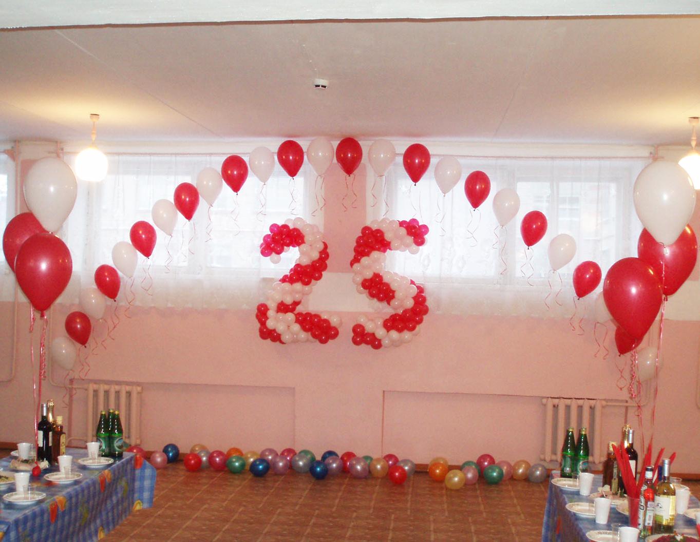 Как оформить зал к дню рождения своими руками